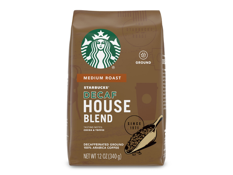 Starbucks Decaf Ground Coffee—House Blend, 12-ounce. (Photo: Walmart)