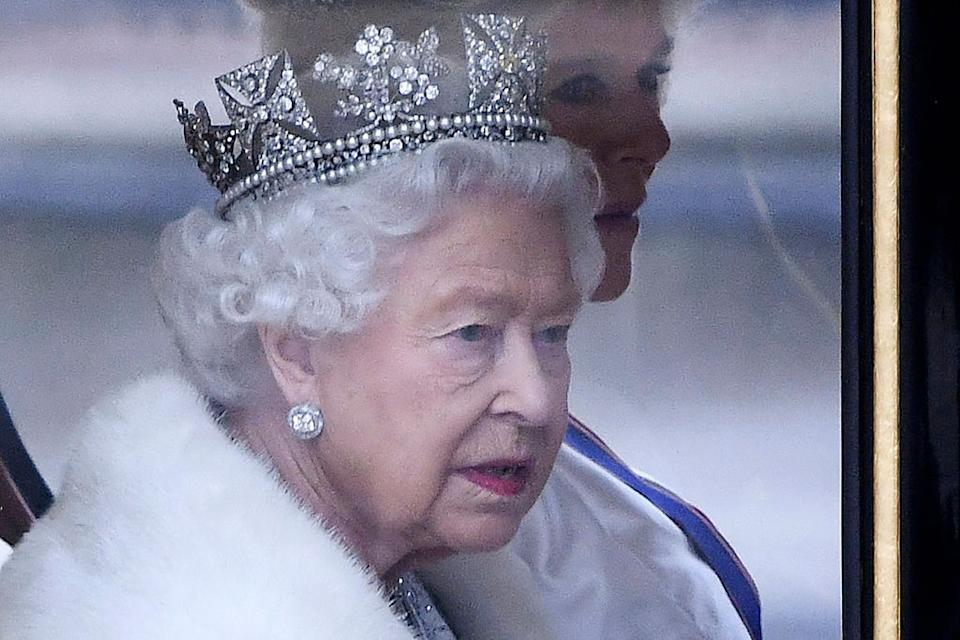 The Queen arrived at Parliament in a horse-drawn carriage [Photo: Getty]