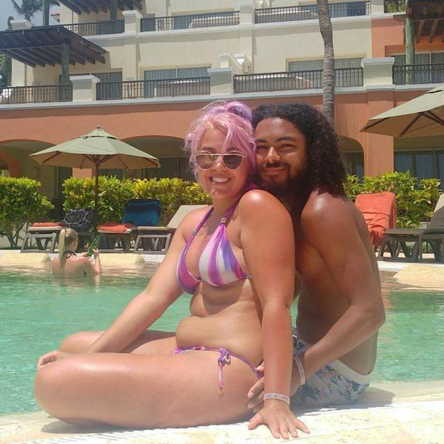 Megan Jayne Crabbe and her boyfriend, Ben, on vacation. (Photo: Instagram.com/bodyposipanda)