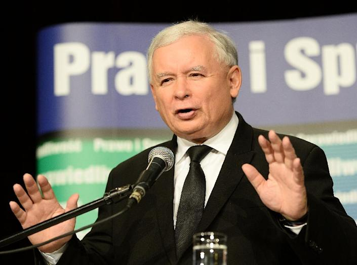 Jaroslaw Kaczynski's ruling Law and Justice (PiS) party introduced the controversial legislation which gives his government control of state media (AFP Photo/Janek Skarzynski)