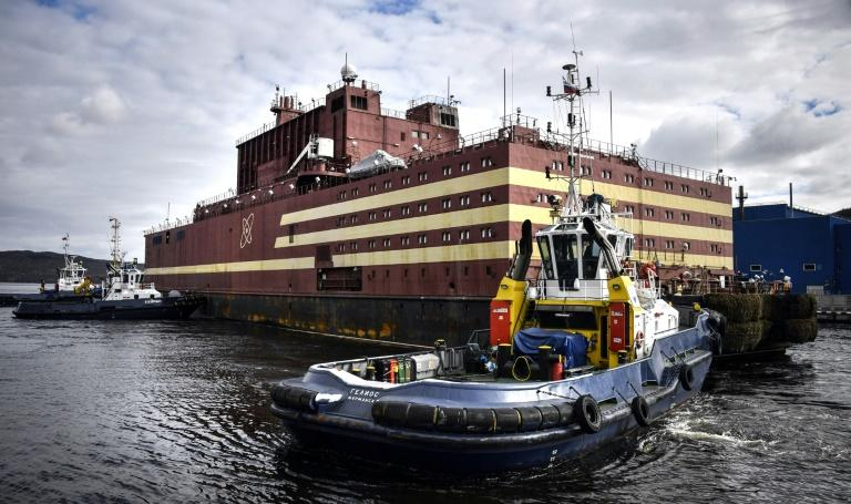 The Akademik Lomonosov is due to go into operation by the end of year, mainly serving the region's oil platforms as Russia develops the exploitation of hydrocarbons in the Arctic (AFP Photo/Alexander NEMENOV)
