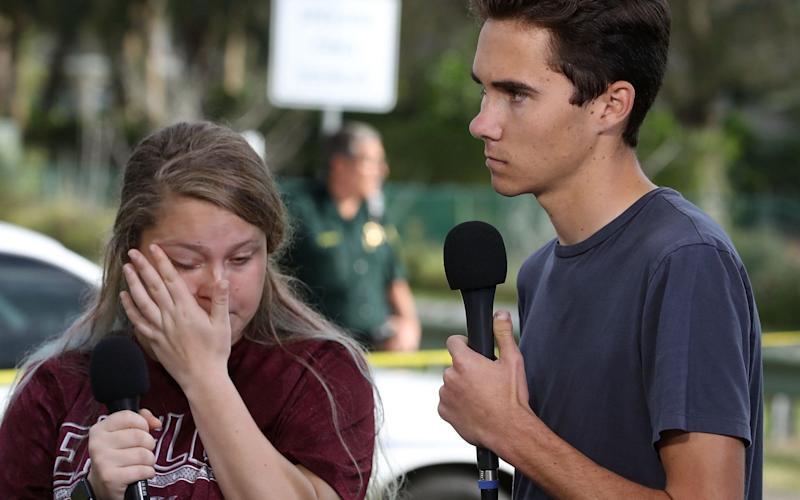 Students have been speaking up about gun violence after there was a fatal shooting at their school - Getty Images North America