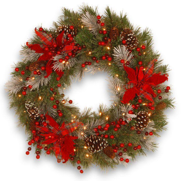 "<p><strong>National Tree Company</strong></p><p>hayneedle.com</p><p><strong>$64.64</strong></p><p><a href=""https://www.hayneedle.com/product/24-in-decorative-collection-tartan-plaid-wreath.cfm"" rel=""nofollow noopener"" target=""_blank"" data-ylk=""slk:Shop Now"" class=""link rapid-noclick-resp"">Shop Now</a></p><p>Poinsettias and tartan are all you need for the holiday season.</p>"