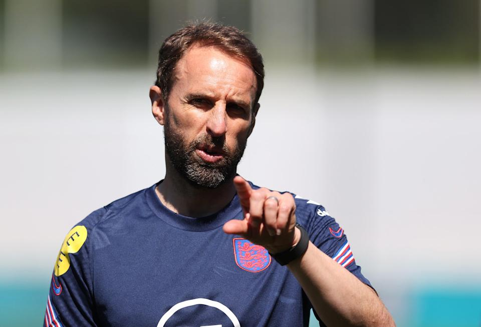 Gareth Southgate in training this week (Getty Images)