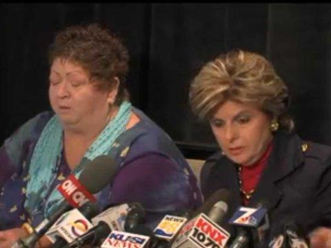 Gloria Allred and Peggy Shannon, Bob Filner news conference
