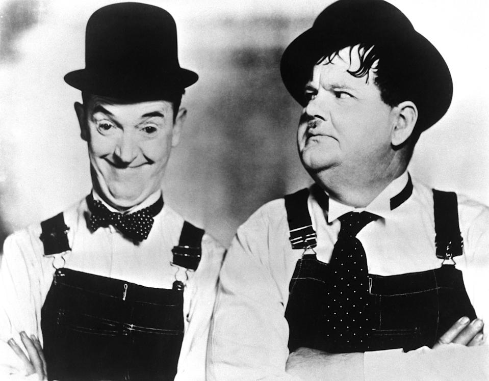 Stan Laurel and Oliver Hardy were at their peak between the 1920s and the 1940s with their slapstick routines (PA)