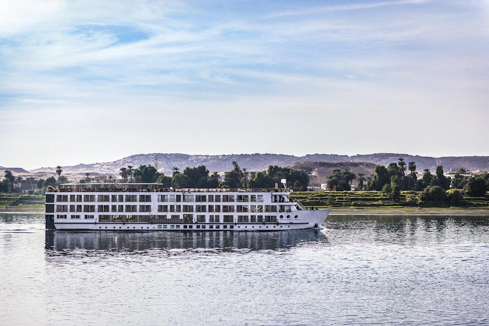 One of cruise ships between Luxor and Aswan