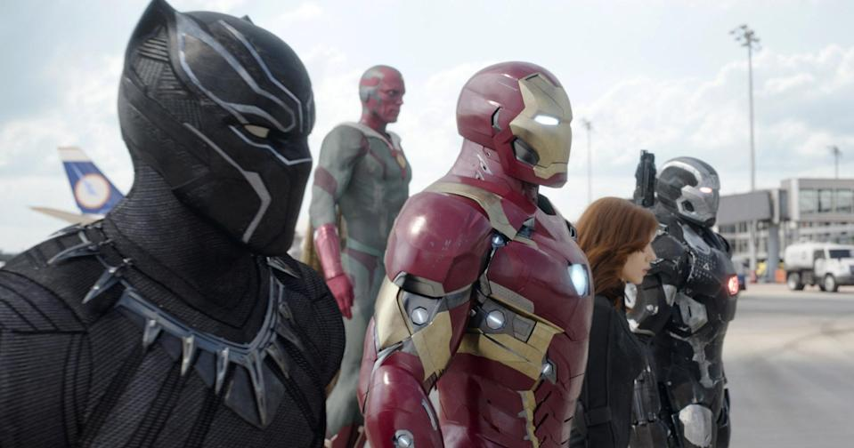 Black Panther is on the side of Team Iron Man in the pivotal battle from <em>Captain America: Civil War.</em> (Photo: Marvel Studios)