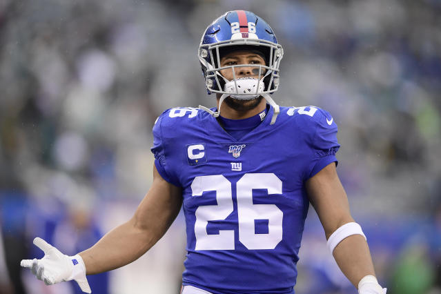 Saquon Barkley and several other Pro Bowlers want the league to take a more aggressive stance against racism and systematic oppression. (Photo by Steven Ryan/Getty Images)