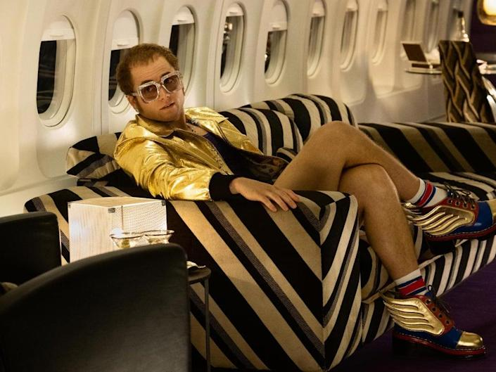 Success comes very quickly but happiness doesn't for Elton John, played by Taron Egerton, in the biopic (Paramount)