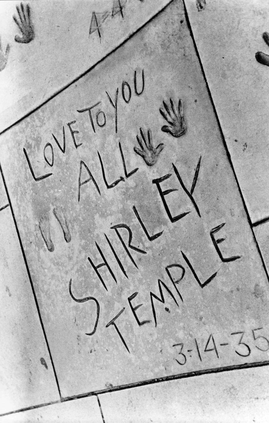 <p>Temple's handprints in the rotunda of Grauman's Chinese Theater.<br> </p>