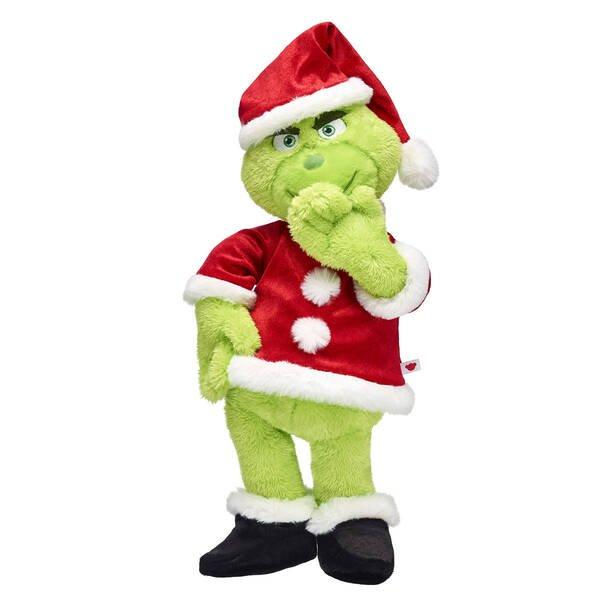 Build-a-Bear's Grinch also has a Christmas outfit - just like in the film
