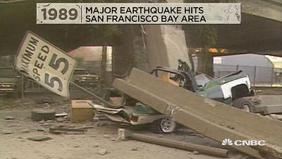 Among the events that happened on this day in history, in 1989 a major earthquake hits the San Francisco Bay area.
