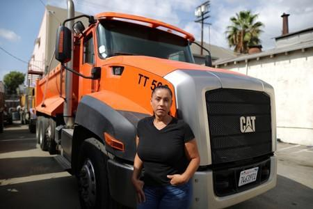 Sandra Alzate, 51, vice president of a trucking company, poses for a portrait in Los Angeles
