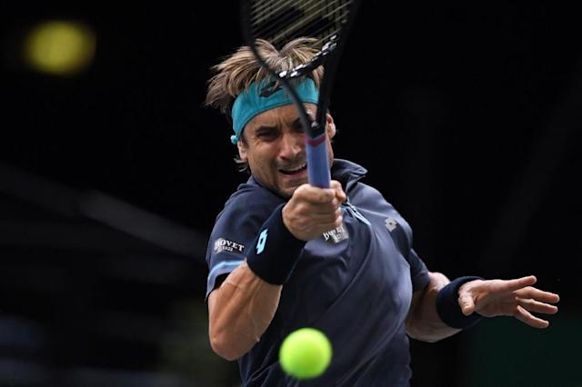 David Ferrer, 35, rolled back the years as he beat Hyeon Chung to cruise into the ATP Auckland Classic semi-finals on January 11, 2018 (AFP Photo/CHRISTOPHE ARCHAMBAULT )