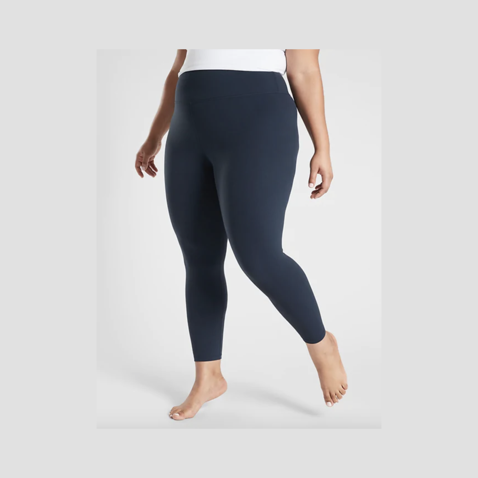 """<p><strong>Athleta</strong></p><p>athleta.gap.com</p><p><strong>$89.00</strong></p><p><a href=""""https://go.redirectingat.com?id=74968X1596630&url=https%3A%2F%2Fathleta.gap.com%2Fbrowse%2Fproduct.do%3Fpid%3D480097032%23pdp-page-content&sref=https%3A%2F%2Fwww.goodhousekeeping.com%2Fclothing%2Fg35139110%2Fbest-plus-size-workout-clothes%2F"""" rel=""""nofollow noopener"""" target=""""_blank"""" data-ylk=""""slk:Shop Now"""" class=""""link rapid-noclick-resp"""">Shop Now</a></p><p><strong>Our Lab experts personally love these leggings and named them the best overall pair</strong> in our plus-size leggings roundup. They're smooth, durable against pilling, and can be worn for a variety of fitness activities. The only flaw: they need a larger color range for plus sizes. </p>"""