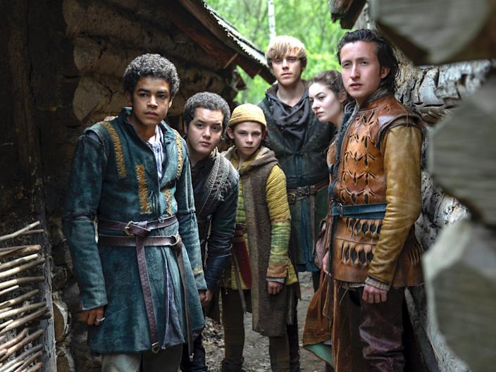 "Amir Wilson, Islam Bouakkaz, Nathanael Saleh, Jack Barton, Ruby Ashbourne Serkis, and Jonah Lees star in ""The Letter for the King."""