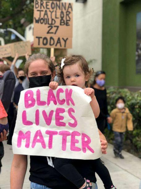 PHOTO: White People for Black Lives Matters at a protest in Los Angeles, California. (Danielle Reidy)