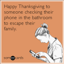 """<p>Putting the whole family under one roof all but guarantees some awkward moments. When you finally exit your hideout, switch the conversation to a lighter topic, like <a href=""""https://www.goodhousekeeping.com/holidays/thanksgiving-ideas/a35457/thanksgiving-trivia/"""" rel=""""nofollow noopener"""" target=""""_blank"""" data-ylk=""""slk:Thanksgiving trivia"""" class=""""link rapid-noclick-resp"""">Thanksgiving trivia</a>.</p><p><em><a href=""""https://www.goodhousekeeping.com/holidays/thanksgiving-ideas/a35457/thanksgiving-trivia/"""" rel=""""nofollow noopener"""" target=""""_blank"""" data-ylk=""""slk:RELATED: 19 Fascinating Things You Never Knew About Thanksgiving"""" class=""""link rapid-noclick-resp"""">RELATED: 19 Fascinating Things You Never Knew About Thanksgiving</a></em></p>"""