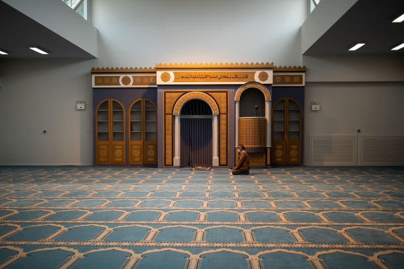 Friday prayers at the capital's first official mosque, in Athens