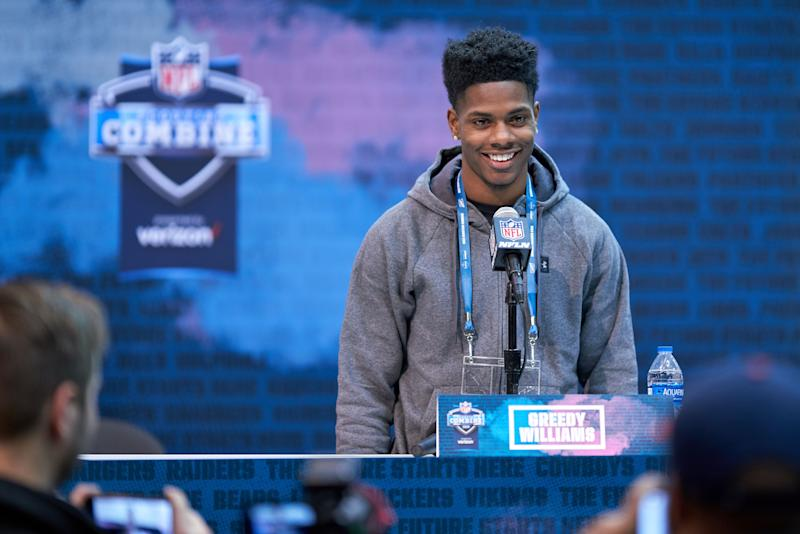 Not lacking confidence: After being drafted by the Cleveland Browns on Friday, CB Greedy Williams declared the team would be in the Super Bowl. (Getty Images)