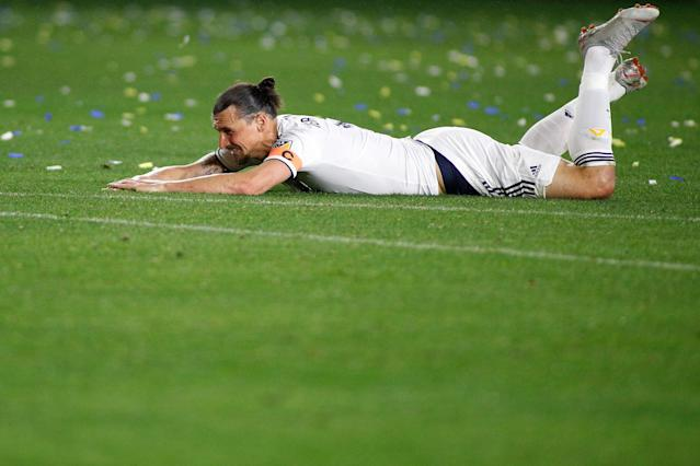 "<a class=""link rapid-noclick-resp"" href=""/soccer/players/374294/"" data-ylk=""slk:Zlatan Ibrahimovic"">Zlatan Ibrahimovic</a> could be facing a lengthy spell on the sidelines, which would be bad news for him and the Galaxy. (Getty)"