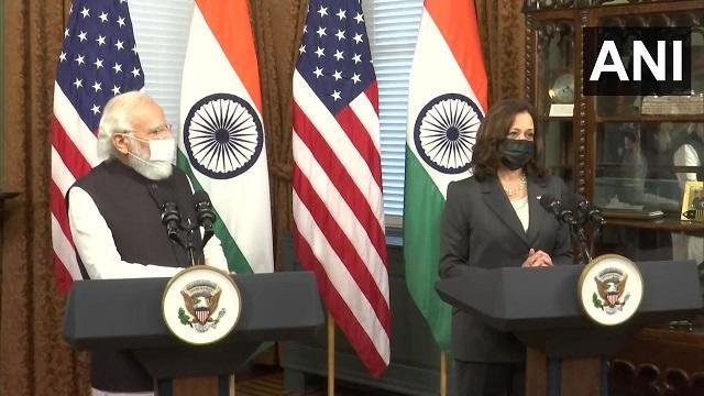 Prime Minister Narendra Modi on Thursday held the first in-person meeting with Vice President Kamala Harris at the White House during which they decided to further cement the Indo-US strategic partnership and discussed global issues of common interest, including threats to democracy, Afghanistan and the Indo-Pacific. ANI
