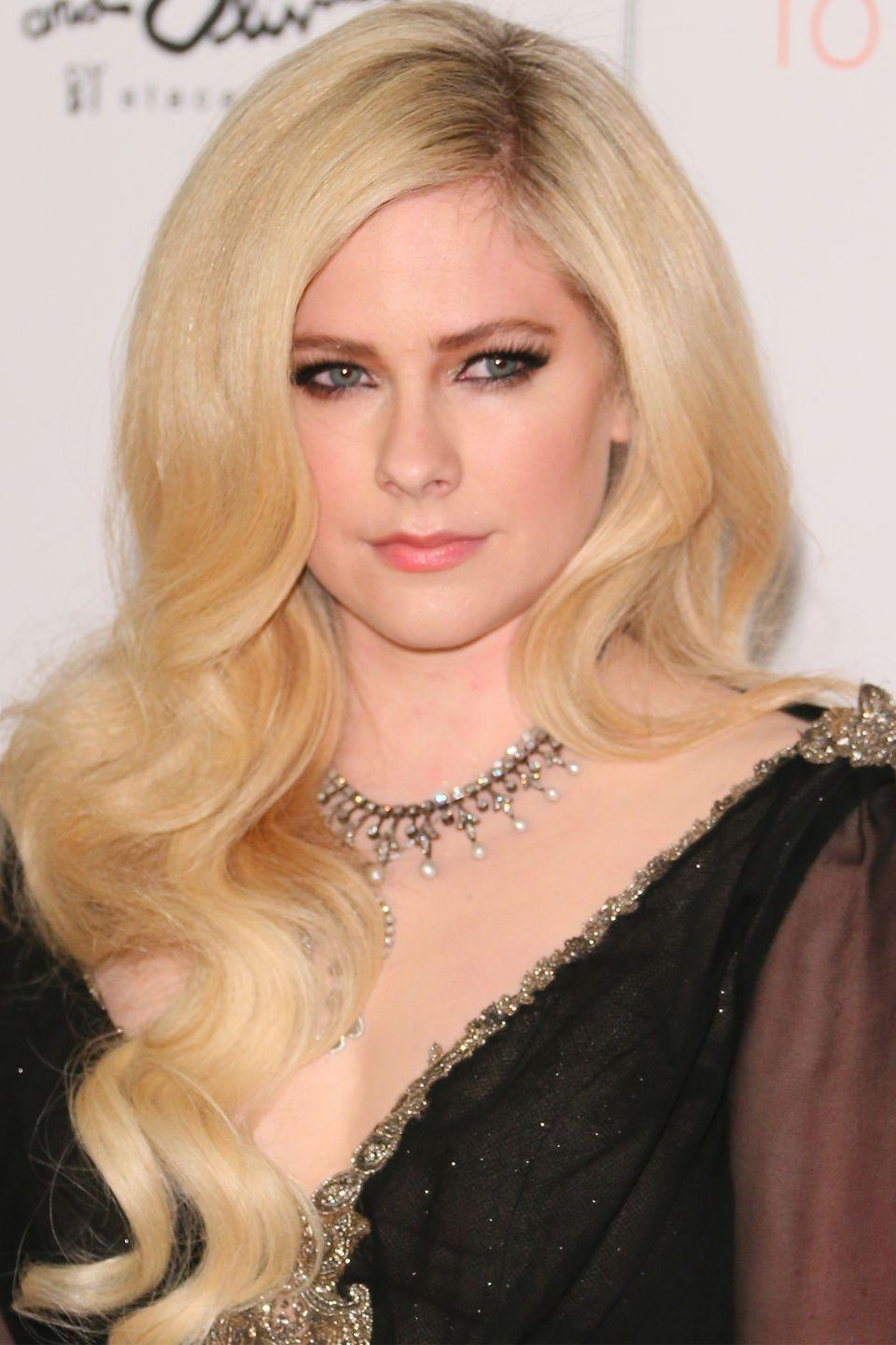 """<p>Avril <a href=""""https://www.cbsnews.com/pictures/musicians-who-quit-school/15/"""" rel=""""nofollow noopener"""" target=""""_blank"""" data-ylk=""""slk:dropped out"""" class=""""link rapid-noclick-resp"""">dropped out</a> of school at 17 when she signed her record contract.</p>"""