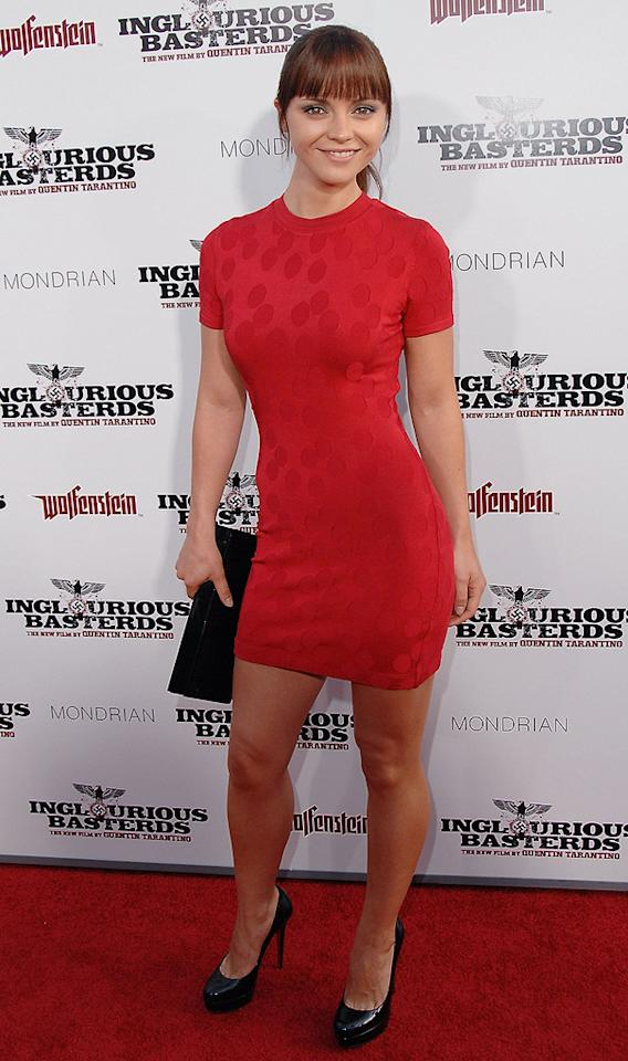"""<a href=""""http://movies.yahoo.com/movie/contributor/1800018567"""">Christina Ricci</a> at the Los Angeles premiere of <a href=""""http://movies.yahoo.com/movie/1808404206/info"""">Inglourious Basterds</a> - 08/10/2009"""
