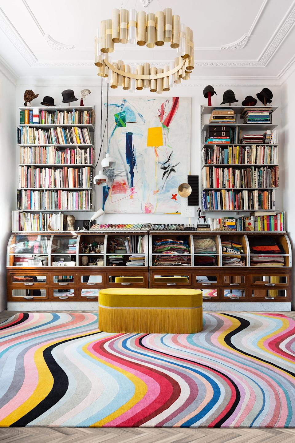 "<div class=""caption""> Paul Smith's Modern Swirl rug for The Rug Company. </div> <cite class=""credit"">Photo: Courtesy of The Rug Company</cite>"