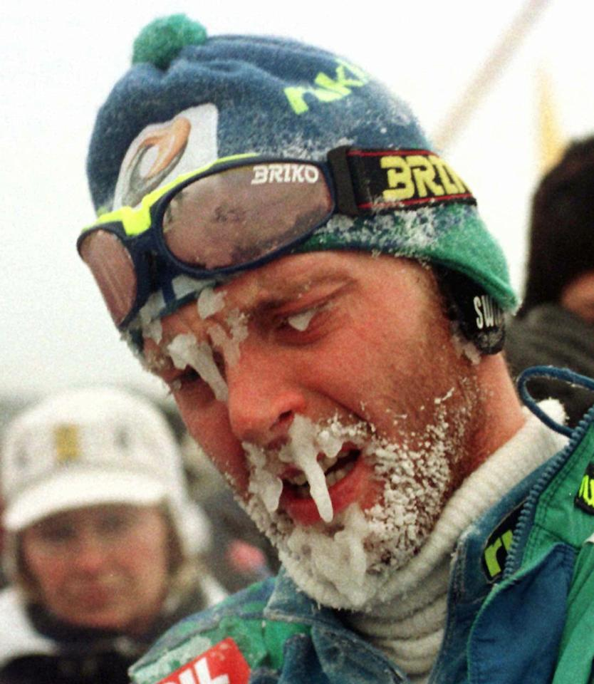 Finnish cross-country skier Mika Myllylä was caught in 2001 using hydroxyethyl starch, which expands blood plasma to cover up the use of erythropoietin. Myllylä was suspended two years by the International Ski Federation, and he struggled with alcohol until his death in July of 2011. (AP photo/Anatoly Maltsev)
