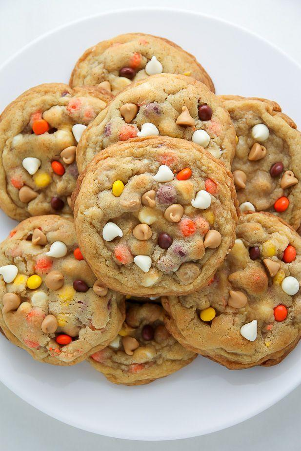 "<p>E.T. phone home...and bring Reese's Pieces, please.</p><p>Get the recipe from <a href=""https://bakerbynature.com/white-chocolate-reeses-pieces-peanut-butter-chip-cookies/"" rel=""nofollow noopener"" target=""_blank"" data-ylk=""slk:Baker By Nature"" class=""link rapid-noclick-resp"">Baker By Nature</a>.</p>"
