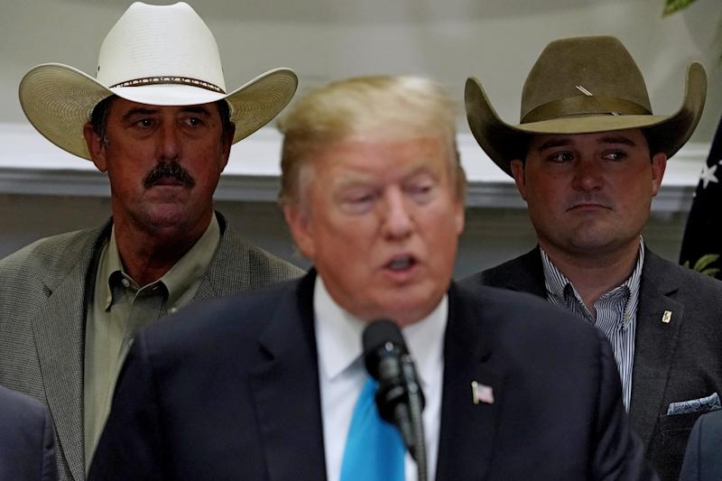 U.S. President Donald Trump delivers remarks in support of farmers and ranchers in the Roosevelt Room at the White House May 23, 2019. (Photo: Chip Somodevilla/Getty Images)