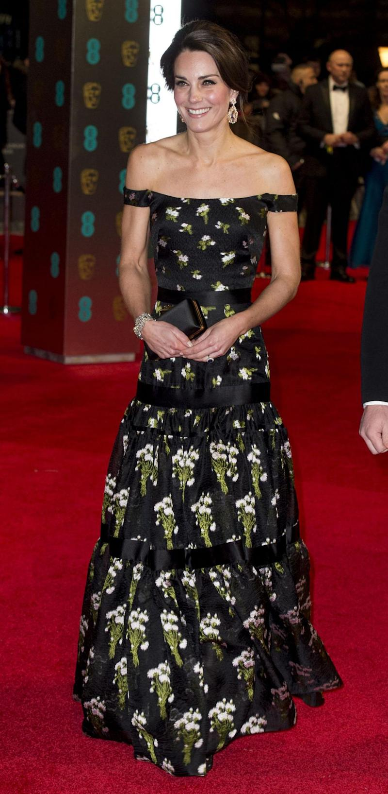 Kate did wear black last year though, stealing the show in floral Alexander McQueen. Photo: Getty