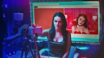 "<p>This film has an unlikely horror heroine — a cam girl trying to up her follower count. But when an eerie look-alike starts to take over her feed, she has to solve the mystery of who is trying to steal her identity and destroy her livelihood. </p><p><a class=""link rapid-noclick-resp"" href=""https://www.netflix.com/watch/80177400"" rel=""nofollow noopener"" target=""_blank"" data-ylk=""slk:WATCH NOW"">WATCH NOW</a></p>"
