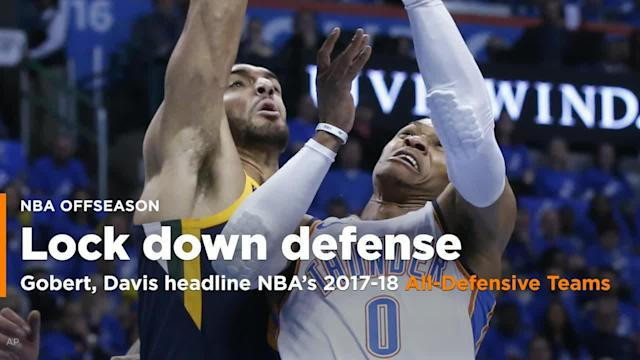 The NBA unveiled the 2017-18 All-Defensive Teams on Wednesday afternoon, two five-man squads that featured six first-time honorees, and a First Team led by Utah Jazz center Rudy Gobert and New Orleans Pelicans everything Anthony Davis, two of the three finalists for the NBA's 2017-18 Defensive Player of the Year trophy.