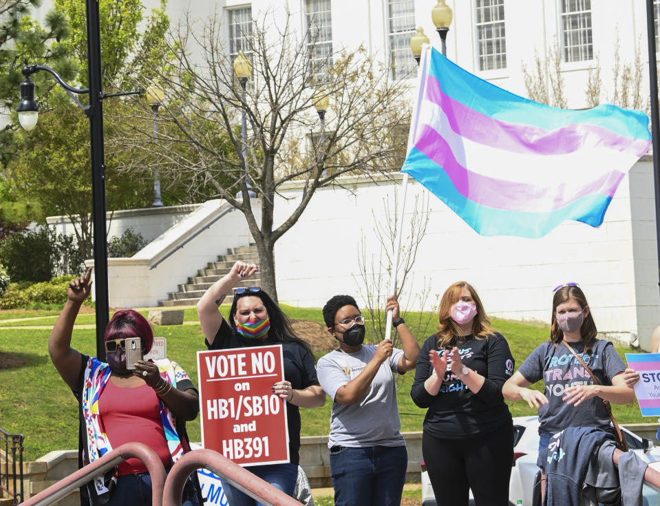 Opponents of state bills targeting transgender youth