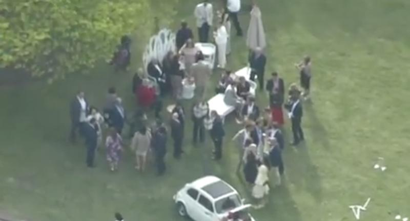 Over 300 wedding guests were evacuated from the Ringwood North wedding reception.
