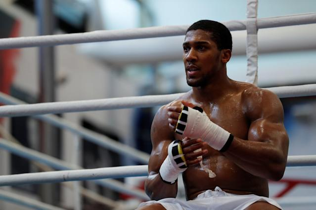 Boxing - Anthony Joshua Media Session - Sheffield, Britain - March 21, 2018 Anthony Joshua during the media session Action Images via Reuters/Andrew Couldridge