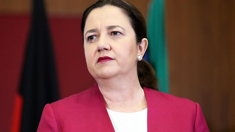 Annastacia Palaszczuk, pictured here speaking to the media at a press conference in Brisbane.