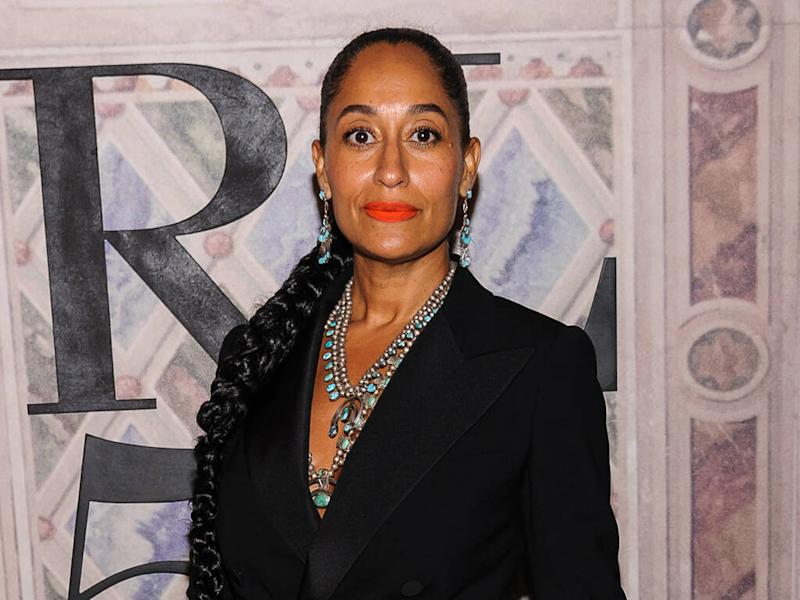 Tracee Ellis Ross thrilled to use her own hair products at the gym