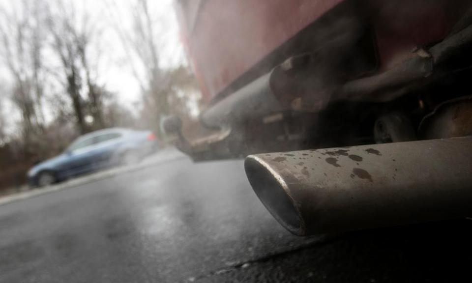 Emissions of pollutants from vehicles have fallen, though not to the extent required.