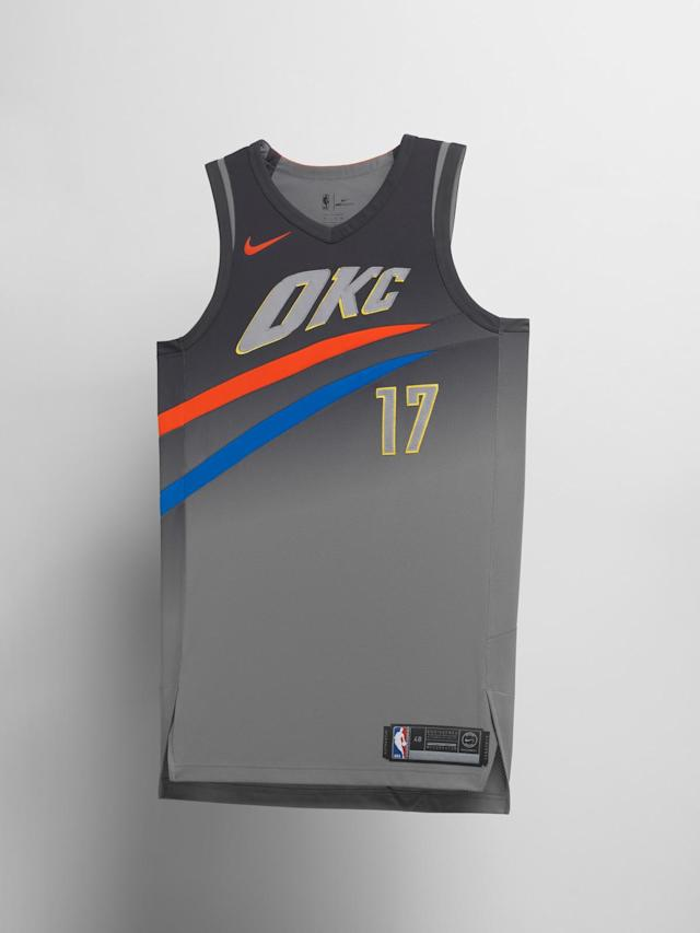 Oklahoma City Thunder City uniform. (Nike)