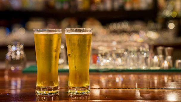 PHOTO: Two glasses of beer sit on a bar in this stock photo. (STOCK PHOTO/Getty Images)