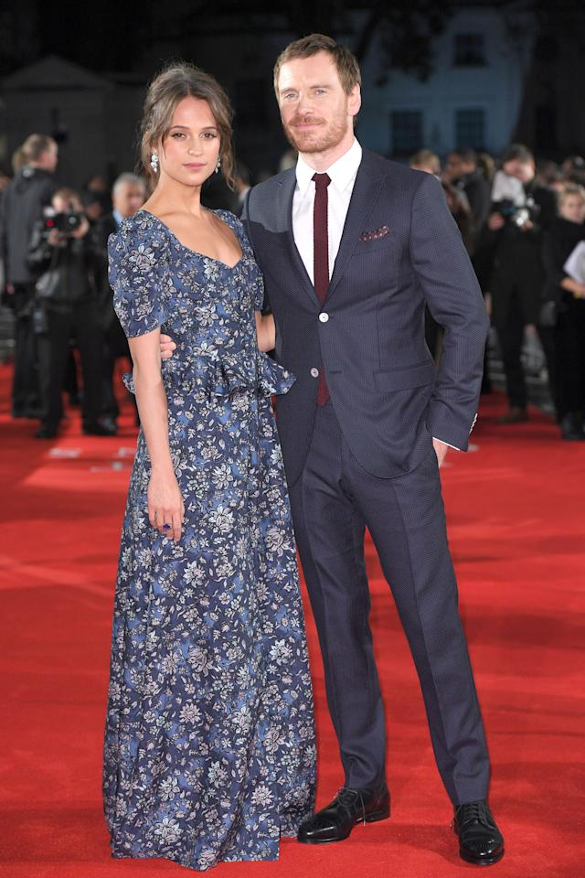 """<p>Hollywood's haute couple garnered some attention when they costarred as husband and wife in the summer drama, <em>The Light Between Oceans</em>. Their onscreen relationship gave light to their <a rel=""""nofollow"""" href=""""http://www.harpersbazaar.com/celebrity/latest/news/a16861/alicia-vikander-michael-fassbender/"""">real-life romance</a> and joint red carpet appearances. It also didn't hurt that Vikander, a new favorite of the fashion set, showed off <a rel=""""nofollow"""" href=""""http://www.harpersbazaar.com/fashion/trends/g7521/alicia-vikander-jason-bourne-red-carpet-style/?"""">impeccably chic style</a>.  </p>"""