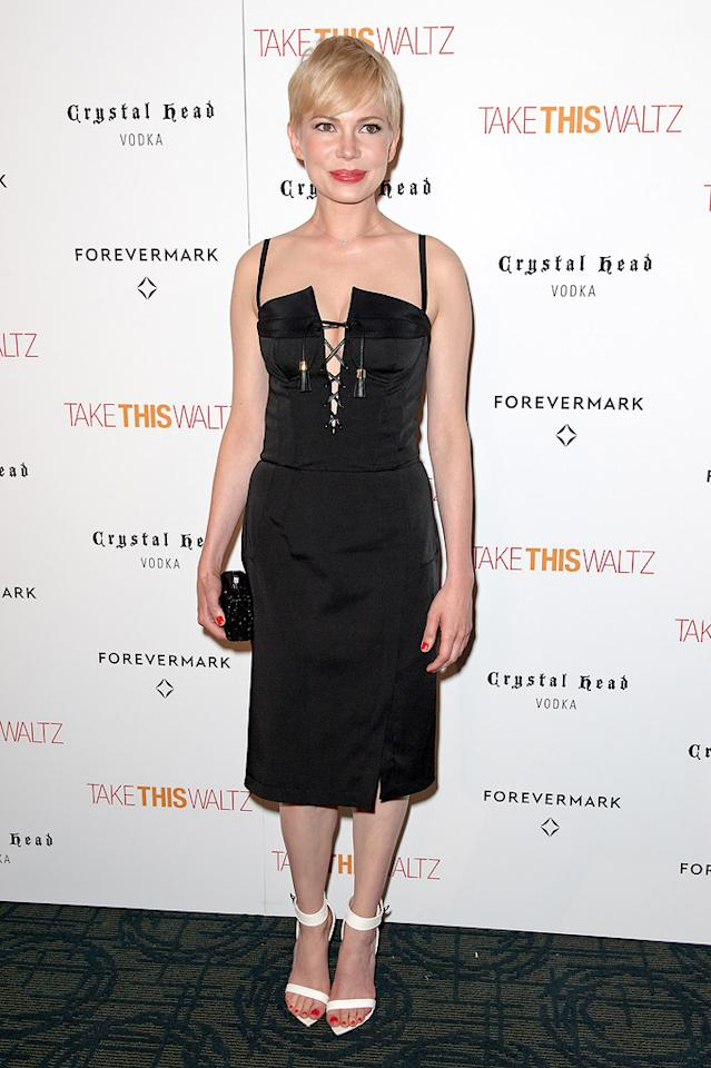 "Michelle Williams attends the ""Take This Waltz"" screening at Sunshine Landmark on June 21, 2012 in New York City."