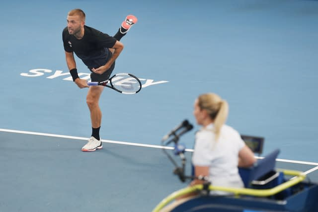 Dan Evans could not keep Britain in the competition (Steve Christo/AP)