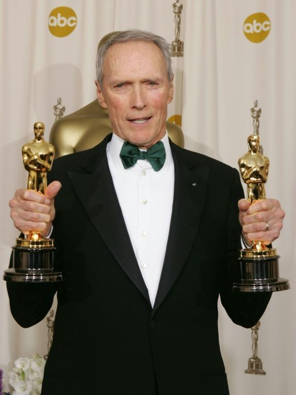 """Clint Eastwood won two more Oscars in 2005 -- again for best picture and best director -- for """"Million Dollar Baby"""" (AFP Photo/JEFF HAYNES)"""