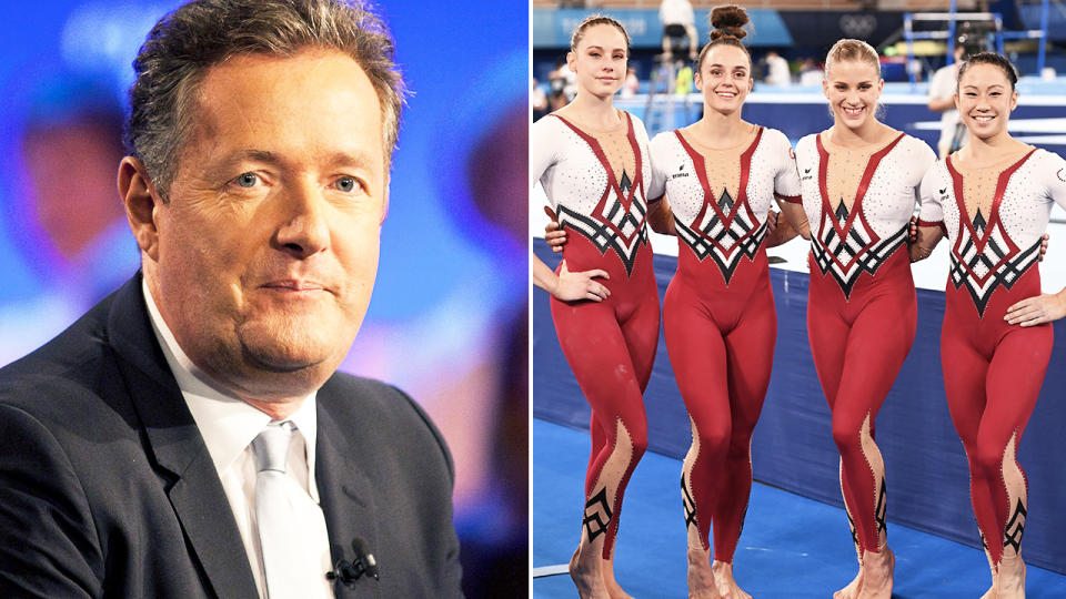 Piers Morgan, pictured here on TV in the UK.