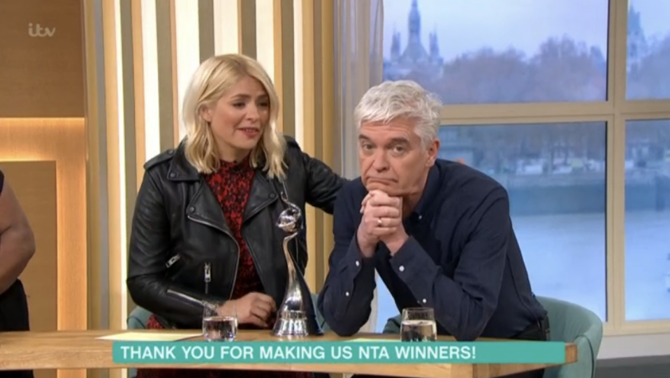 Holly Willoughby and Phillip Schofield nurse hangovers